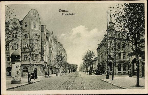 Ak Dessau in Sachsen Anhalt, Franzstraße