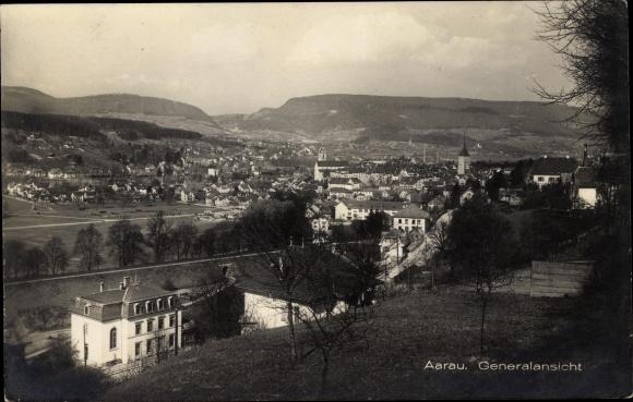 Ak Aarau Kt. Aargau Schweiz, Generalansicht