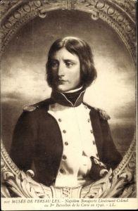 Künstler Ak Napoleon Bonaparte, Kaiser Napoleon I., Lieutenant Colonel au Ier Batl. de la Corse