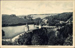 Ak Lüdenscheid im Märkischen Kreis, Blick auf die Versetalsperre, Sperrmauer, Stausee
