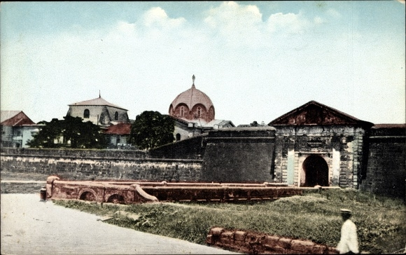 Ak Manila Philippinen, Parian Gate, Tor, Kuppeldach