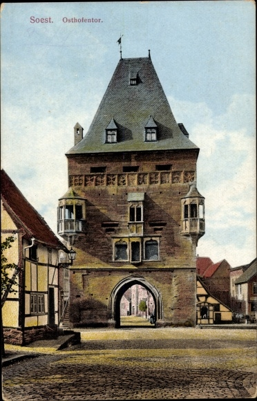 Ak Soest in Nordrhein Westfalen, Blick auf das Osthofentor