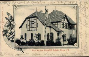 Passepartout Ak Lienen im Tecklenburger Land, Lindenhof