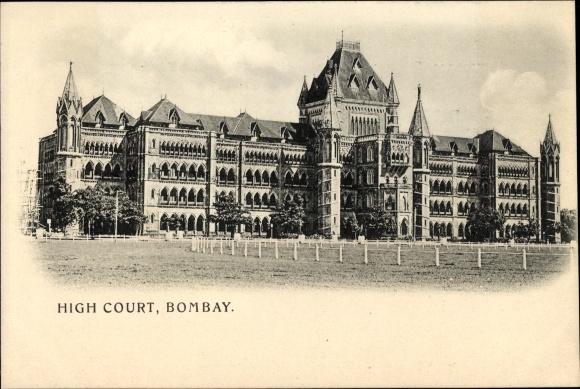 Ak Mumbai Bombay Indien, High Court, Gerichtsgebäude von außen