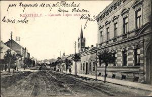 Ak Keszthely Kesthell Ungarn, Kossuth Lajos utca