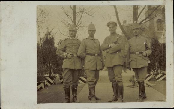 Foto Ak Deutsche Soldaten in Uniformen, Telegraphen Bataillon, Tschako