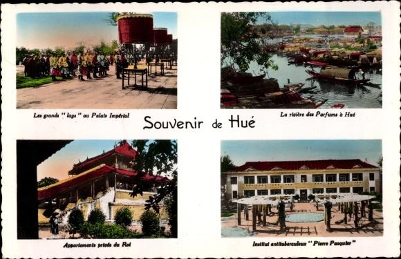 Ak Hue Annam Vietnam, Lays, Palais Imperial, riviere des Parfums, Institut antituberculeux Pasquier