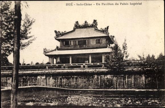 Ak Hue Annam Vietnam, Un Pavillon du Palais Imperial