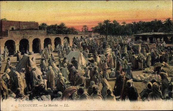 Ak Touggourt Algerien, Le Marché