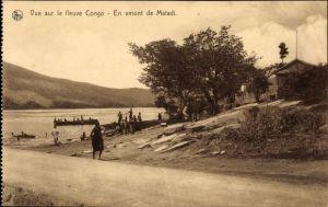 Ak DR Kongo Zaire, Vue sur le fleuve Congo, en amont de Matadi