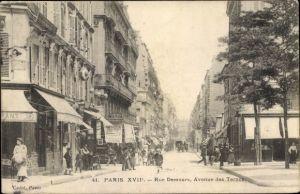 Ak Paris XVII., Rue Demours, Avenue des Ternes
