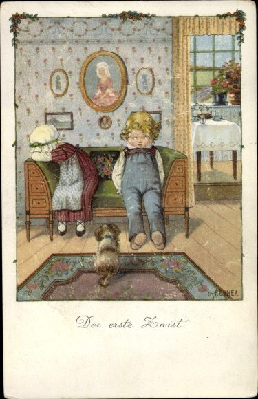 Künstler Litho Ebner, Pauli, Der erste Zwist, Munk Nr 1158