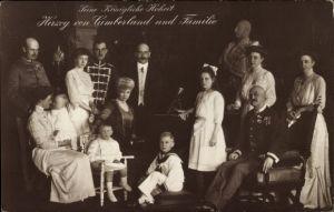 Ak Herzog von Cumberland und Familie, Herzog Ernst August von Braunschweig
