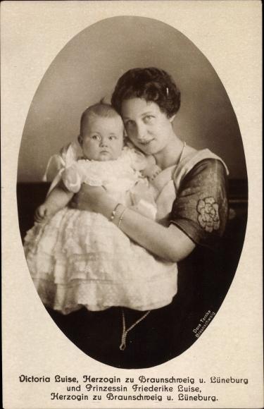 Ak Prinzessin Victoria Luise von Preußen, Herzogin zu Braunschweig, Prinzessin Friederike