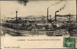 Ak St. Chamond Loire, Vue générale des Usines de la Compagnie des Aciéries de la Marine