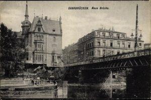 Ak Saarbrücken im Saarland, Neue Brücke
