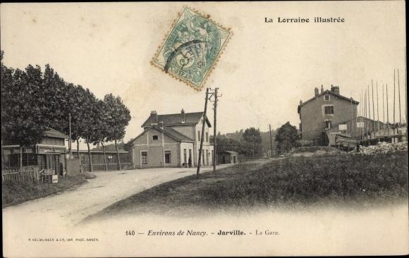Ak Jarville-la-Malgrange Lothringen Meurthe et Moselle, La Gare