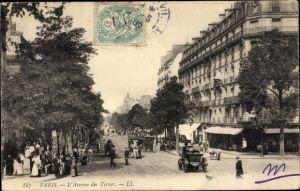 Ak Paris XVII., L'Avenue des Ternes