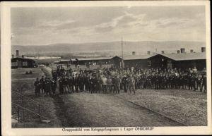 Ak Ohrdruf in Thüringen, Kriegsgefangene im Lager
