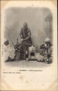 Ak Kairo Ägypten, Cafetier ambulant