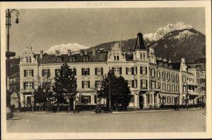 Ak Meran Merano Südtirol, Hotel Bellevue, Straßenpartie