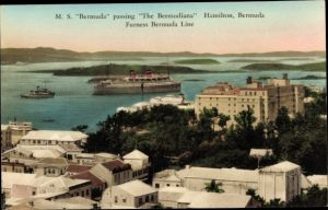 Ak Hamilton Bermuda, MS Bermuda passing the Bermudiana, Furness Bermuda Line