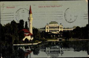 Ak București Bukarest Rumänien, Vedere din Parcul Regele Carol I.