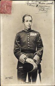 Ak Alphonse XIII, König Alfons von Spanien, Portrait