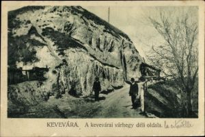 Ak Kevevára Serbien, Weg, Felsen, Männer