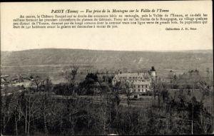 Ak Passy Yonne, Vue prise de la Montagne sur la Vallée de l'Yonne