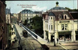 Ak St. Johann Saarbrücken im Saarland, Neue Brücke