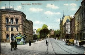 Ak St. Johann Saarbrücken im Saarland, Reichsstraße