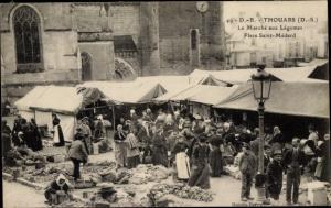 Ak Thouars Deux Sèvres, Le Marché aux Légumes, Place Saint Médard