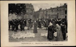 Ak Thouars Deux Sèvres, Marché Place Saint Laon, Gänsemarkt