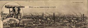 Klapp Ak Essen im Ruhrgebiet, Villa Hügel, Kanone, Krupp'sche Werke