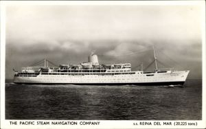 Ak Dampfer SS reina del Mar, Pacific Steam Navigation Company