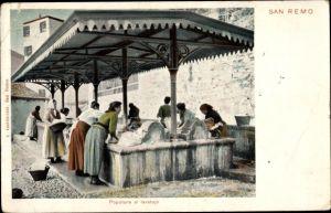 Ak Sanremo Ligurien, Popolane al Lavatoio, Wäscherinnen
