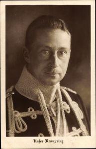 Ak Kronprinz Wilhelm von Preußen, Portrait in Husarenuniform, NPG 4901