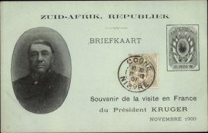 Ak Südafrika, Ohm Krüger, Staatsbesuch in Frankreich 1900