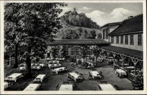Künstler Ak Bad Blankenburg Thüringen, Hotel Goldener Löwe