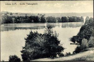 Ak Giżycko Lötzen Ostpreußen, Großer Festungsteich