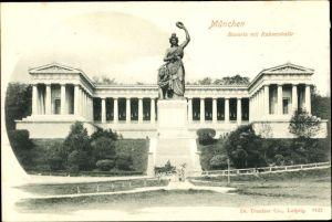 Ak München Bayern, Bavaria Denkmal mit Ruhmeshalle