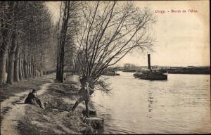 Ak Cergy Val d'Oise, Bords de l'Oise