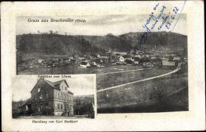 Ak Bruchweiler Pfalz, Panorama, Gasthaus zum Löwen, Handlung