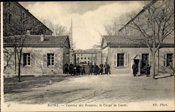 Ak Batna Algerien, Caserne des Zouaves, le Corps de Garde