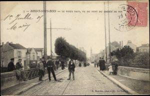 Ak Rosny sous Bois Seine Saint Denis, Le Vieux Pays, vu du Pont du Chemin de fer