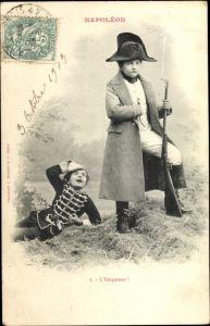 Ak Napoleon, L'Empereur, Kinder in historischen Kostümen