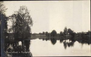 Ak Lettland, Schwefelbad, Mühlenteich