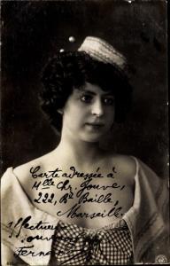 Ak Dame in Kleid, Hut, Portrait, NPG 436/8