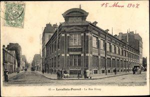 Ak Levallois Perret Hauts de Seine, La Rue Rivay, Cosmydor